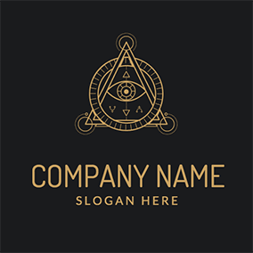 Circle and Triangle Eye Alchemy Logo logo design