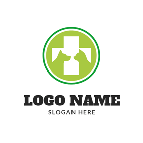 Circle Animal and Cross logo design