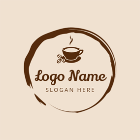 Circle Brown Coffee logo design