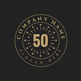 Circle Decoration and 50th Anniversary logo design