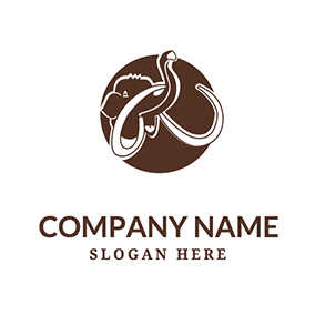 Circle Ivory and Abstract Mammoth logo design