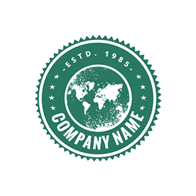 Circle Map and Stamp logo design