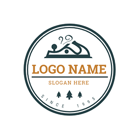 Circle Plane Woodworking logo design