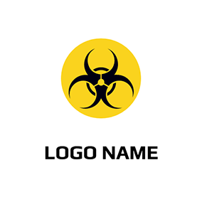 Circle Poison Symbol Warnnig logo design