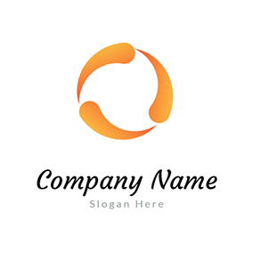 Circle Simple Bright Rotative logo design