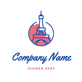 Circle Tower Paris logo design