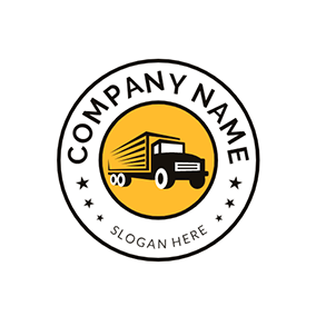Circle Truck and Cargo logo design