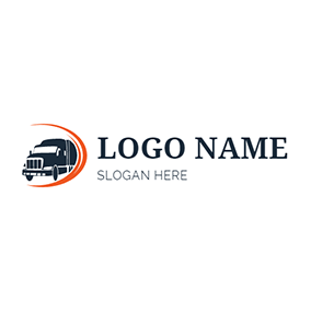 Circle Truck and Transport logo design