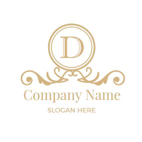 Classic Golden Letter D Logo Design