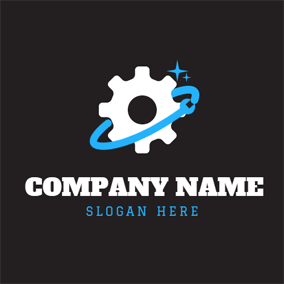 Clean Gear and Spanner logo design