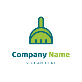 Cleaning Tool and Broom logo design
