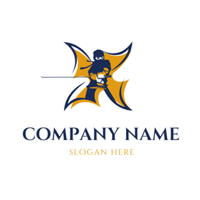 Coat Armor and Ninja logo design