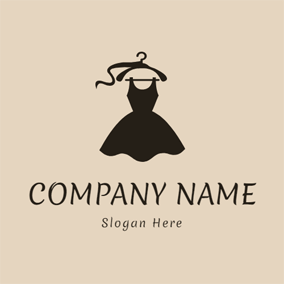 Coat Hanger and Black Skirt logo design