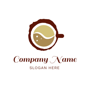 Coconut Shell and Coffee logo design