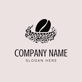 Coffee Bean and Bird Nest logo design