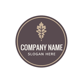 Coffee Circle and Brown Leaf logo design