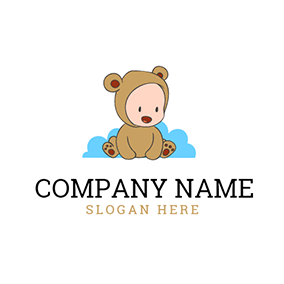 Coffee Clothing and Cute Child logo design