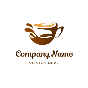 Coffee Foam and Coffee Mug logo design