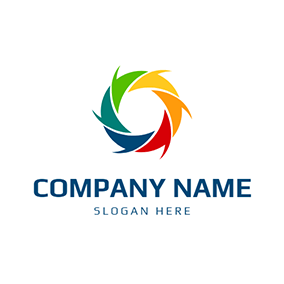 colorful round swirl logo
