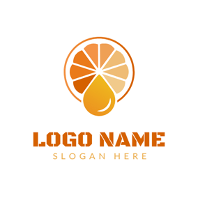 Colorful and Cute Orange Slice logo design