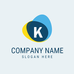 Colorful and Lovely Letter K logo design