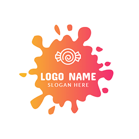 Colorful and White Candy logo design