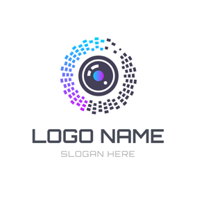 Colorful Aperture and Camera logo design