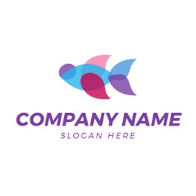 Colorful Beautiful Fish logo design