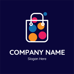 Colorful Bubble and White Bag logo design