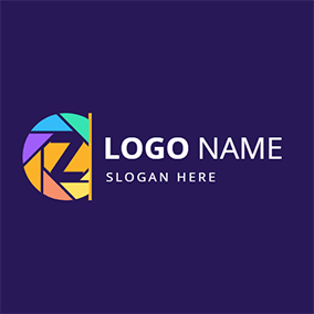 Colorful Camera Lens Zoom logo design
