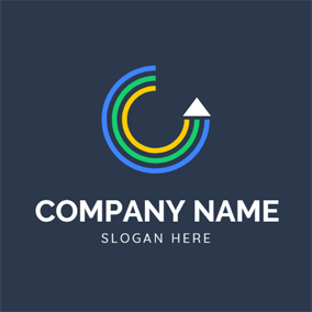 Colorful Circle and Arrow logo design