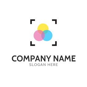 Colorful Circle and Focus logo design