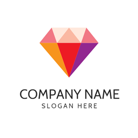 Colorful Cubic Diamond logo design