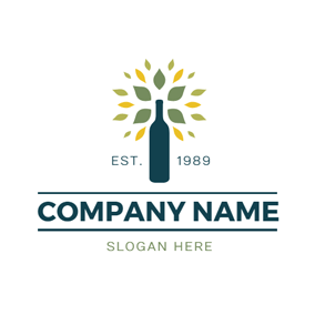 Colorful Decoration and Blue Bottle logo design
