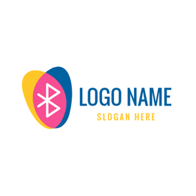 Colorful Decoration and Bluetooth logo design