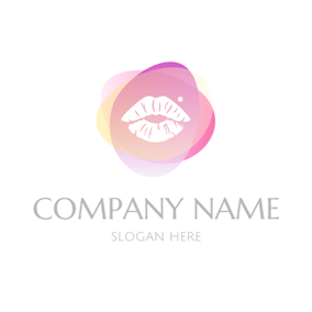 Colorful Decoration and Lip logo design
