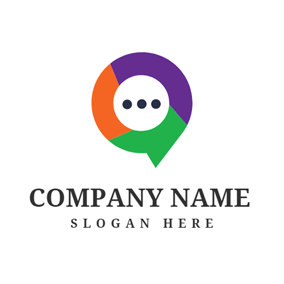 Colorful Dialog Box logo design