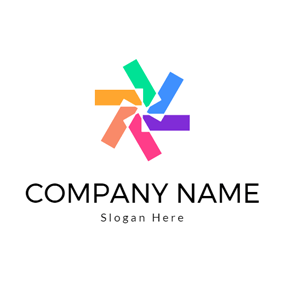 Colorful Geometric Figure logo design