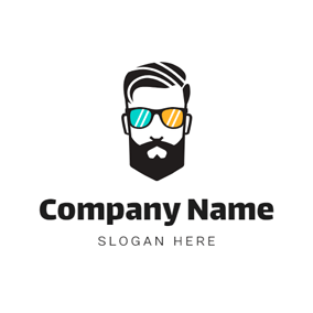 Colorful Glasses and Human Head logo design