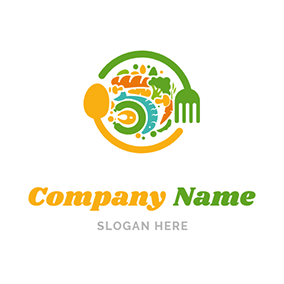 Colorful Gourmet Icon logo design