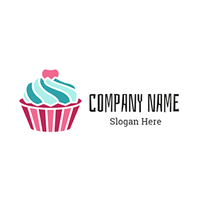 Colorful Ice Cream Cake logo design