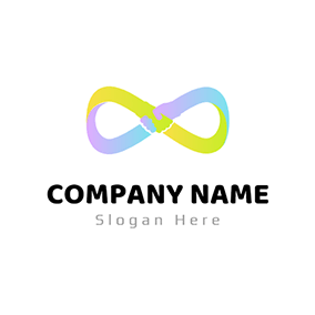Colorful Knot and Shake Hand logo design