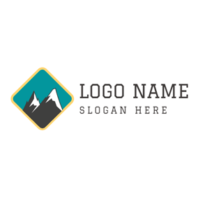 Colorful Mountain Summit logo design