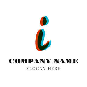 Colorful Overlay and Letter I logo design