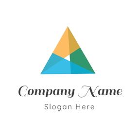 Colorful Overlay and Triangle logo design