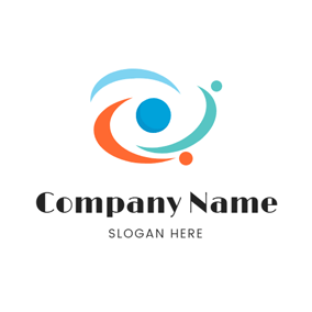 Colorful Planet and Galaxy logo design