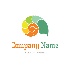 Colorful Sea Shell Icon logo design