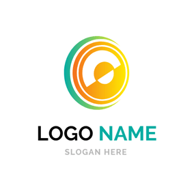 Colorful Speaker Icon logo design