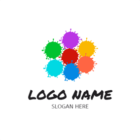 Colorful Splatter Paint logo design