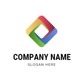 Colorful Square and Fusion logo design